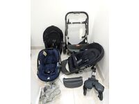 Stokke Crusi Double Pushchair and Baby Car Seat
