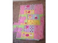 2 PEPPA PIG SINGLE DUVET COVERS