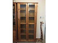 Solid Pine Display Cabinet, Shelves, DVD Cabinet and TV Stand
