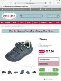 Brand New Boxed Clarks Shoes Size 12.5 Fit G