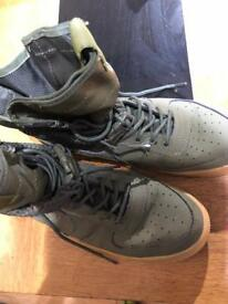 Nike Air Force High tops Green/Brown
