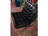 Black leather chair.