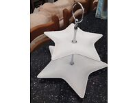 Star 2 tier cake stand