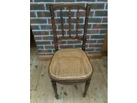 Lovely old Chair with wicker seat