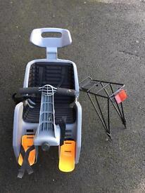 Baby bike seat and tack