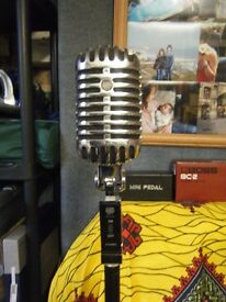 Retro microphone and retro stand in good condition.