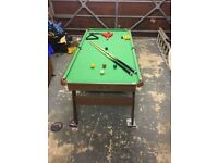 Hy-pro 6ft folding pool/snooker table