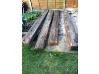 4 original Railway sleepers