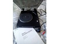 SONY PS-J10 STEREO TURNTABLE/RECORD PLAYER, BLACK, EX. COND.
