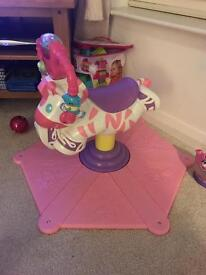 Fisher Price Bounce 'N' Spin Zebra (Pink)