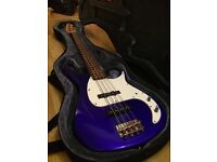 Peavey Bass Guitar Electric Blue with hard case