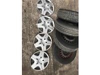 Honda Jazz original steel wheels with good tyres