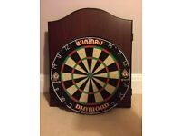 Winmau dartboard and cabinet