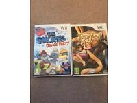 Wii Smurfs Dance Party & Tangled Games