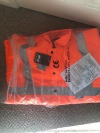 Brand new hi vis orange jacket medium