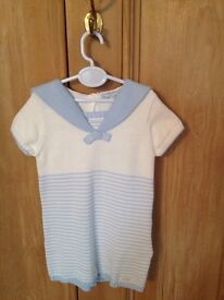Mayoral baby boy designer sailer outfit 6-9 months