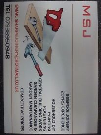 Handyman *** MSJ bespoke joinery and all your home diy ,doors a speciality very competetive prices