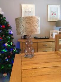 2 Next lamps 16 inch base with shades