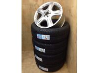 "GENUINE MERCEDES ML SET 4 X 19"" RONAL WHEELS A1644011202 OR FITTED & BALANCED WITH BRAND NEW TYRES"