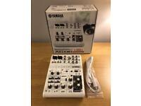 Yamaha AG06 Hybrid mixing consol audio interface+CUBASIS Al+Le