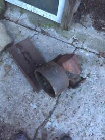 PTO belt drive tractor stationary engine