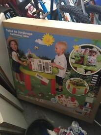 Smoby gardening table brand new unopened