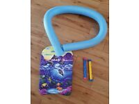 Swimming noodle, float and sink sticks