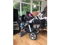 Icandy Apple to Pear double pram/travel system