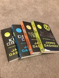 James Dashner novels x4 (Maze Runner series)