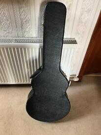 Hard Black Leather Standard Size Guitar Case