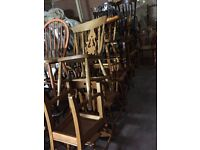 Job lot 70 x country dinning chairs all solid perfect pubs bars cafes bistros