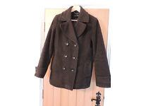 A Ladies Dark Grey Coat from Lands End UK14