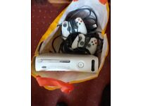 Original Xbox 360 with 2 wired controllers