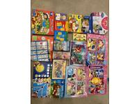 Board games, flash cards
