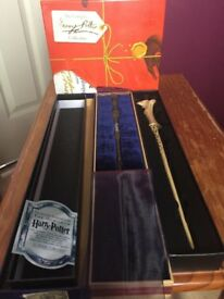 Harry Potter 2x Wands and Full Book Collection (like New)