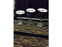 Bar Stools- white and Chrome