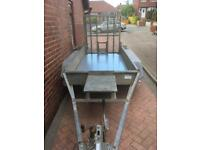 Indespension Plant Trailer 8 X 4 Twin Axle 2.6 Ton not Ifor Williams Great Condition ***NO VAT***