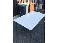 White Office Table. Good Overall Condition. Could Deliver.