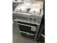 New Graded Flavel 50cm Double Gas Cooker - Silver