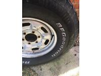 GOODRICH SPARE WHEEL AND TYRE