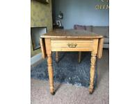 Antique pine drop leaf dining table
