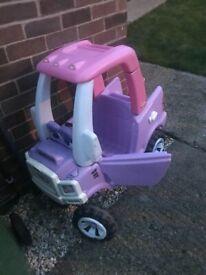 Outdoor pink truck