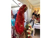Decadent striking wedding dress lengha