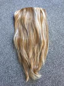 Hair extensions caramel colour. Worn just once