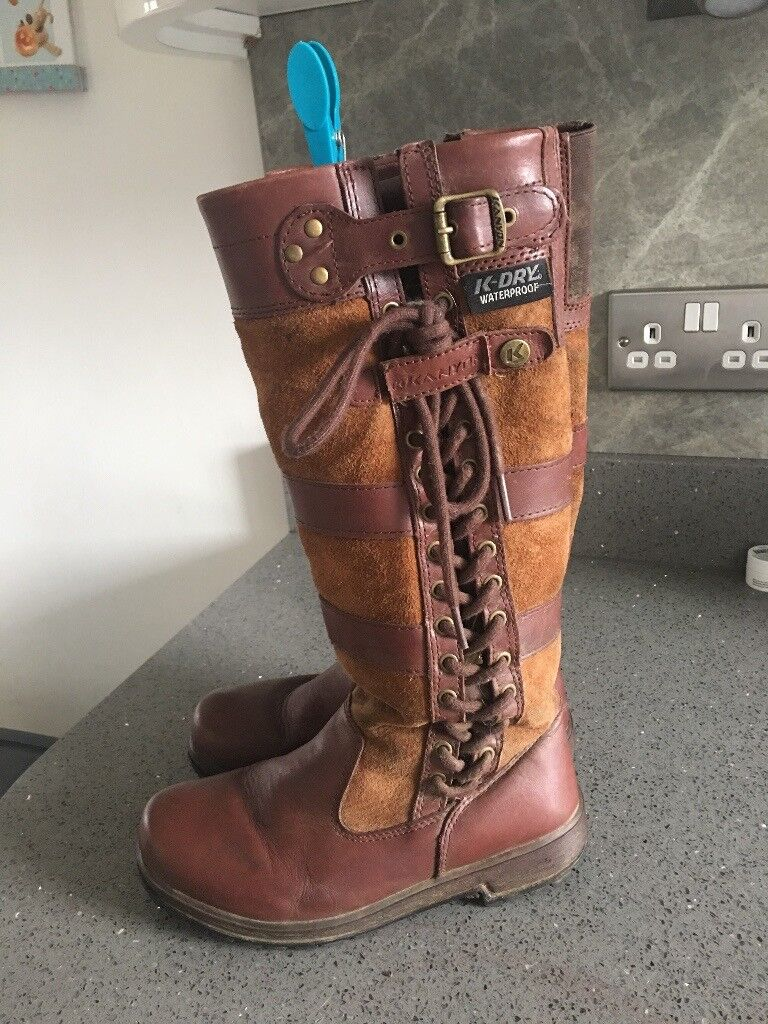 Brown Children's Kanyon Waterproof Country Boots