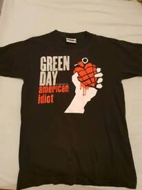 Green Day Band Shirt Size M
