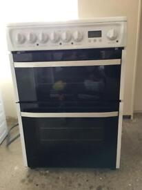 Electric double oven, 1400 spin washing machine, fridge freezer