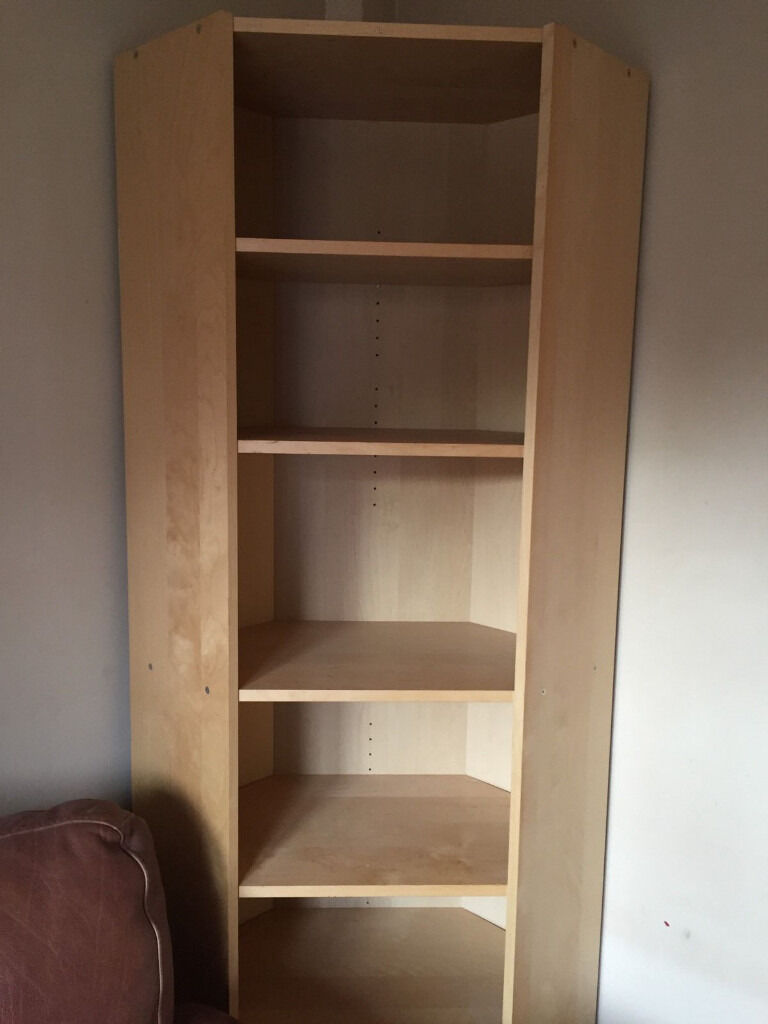Ikea Birch Proper Billy Bookcase Corner Unit With Height Extension– No  Longer On Sale At