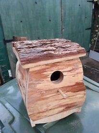 Natural Log Bird Nest Boxes, Otford