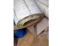 THIS HAS GONE NO LONGER AVAILABLE Carpet Underlay Free for Uplift - Used but Good Quality